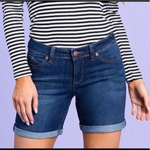 Royalty by YMR Denim Mid Rise Cuffed Shorts